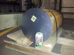 """1,100 lbs of steel, 13"""" by 27"""""""